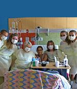 Phoenix Rush 00 Nero Girls team visiting Comfy Cozy kids at Phoenix Children's Hospital, May/2103